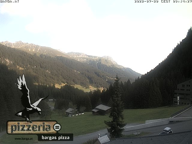 Webcam of Montafon ski resort, restaurant Barga in Gargellen, Austria